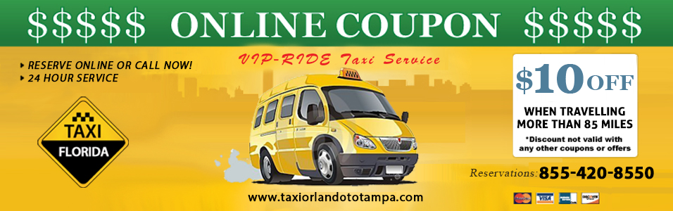 taxi orlando to tampa online coupon